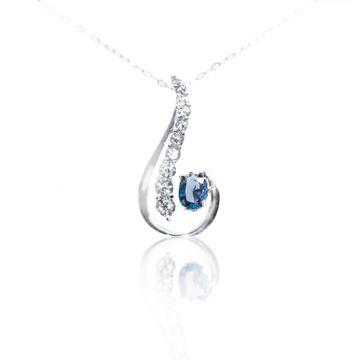 Yogo 14k White Gold Gemstone Pendant - 001-860-00755