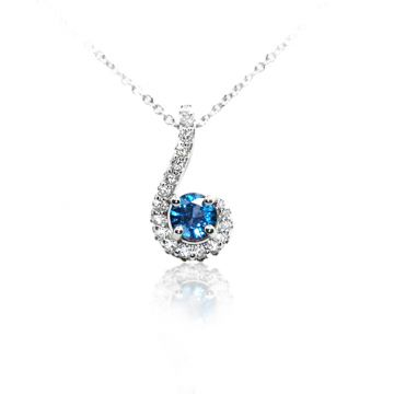 Yogo Sapphire and Diamond Hook - 001-860-00773