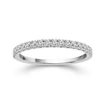 Haylie Ann Halo Collection 14k White Gold Diamond Wedding Band