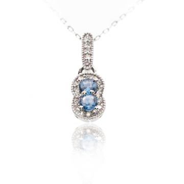 Yogo Sapphire Two Stone Drop - 001-860-00627