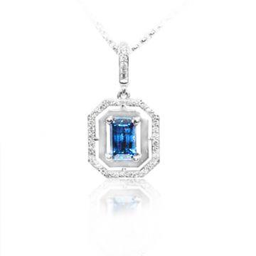 Yogo Sapphire Emerald Shape Pendant - 001-860-00609