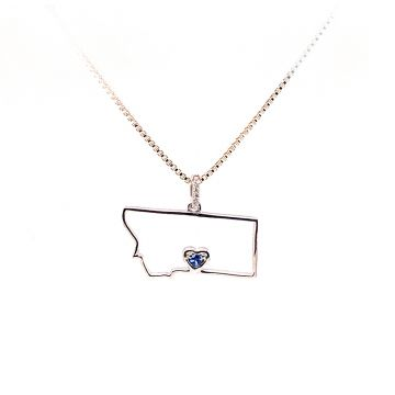 Goldsmith Gallery Sterling Silver White Diamond Pendant