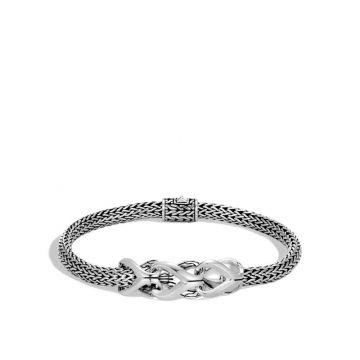 John Hardy Silver Classic Chain Women's Station Bracelet