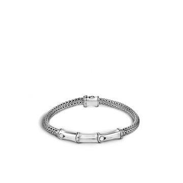 John Hardy Silver Bamboo Women's Station Bracelet