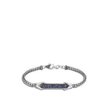 John Hardy Silver Classic Chain Women's Gemstone Station Bracelet