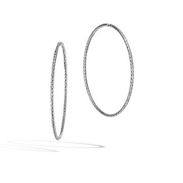 John Hardy Silver Classic Chain Women's Hoop Earrings