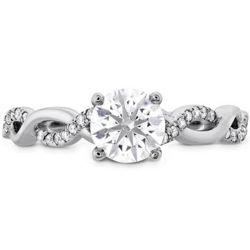 Hearts on Fire Platinum Destiny Twisted Engagement Ring