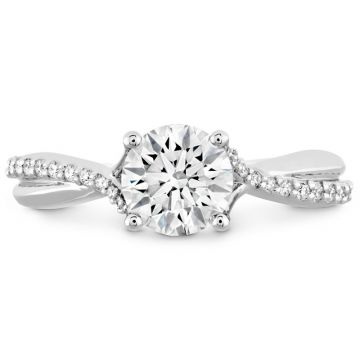Hearts on Fire 18k White Gold Twisted Engagement Ring