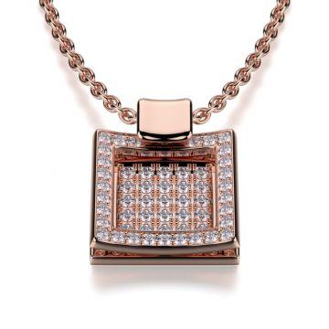 Michael M 18k Gold Rose Diamond Pendant