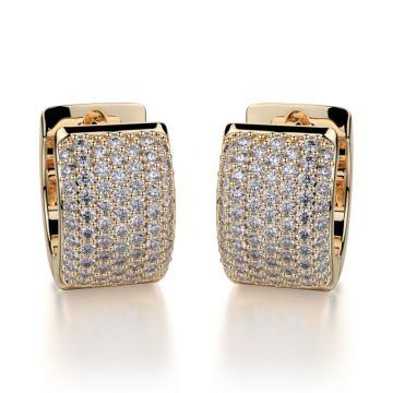 Michael M 14k Yellow Gold Diamond Huggies Earrings