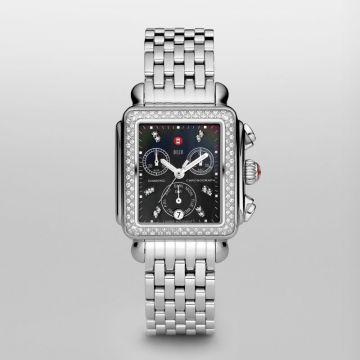 Deco Diamond Black Diamond Dial Complete Watch