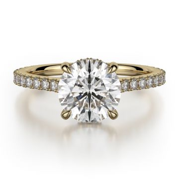 Michael M 18k Yellow Gold Solitaire Engagement Ring