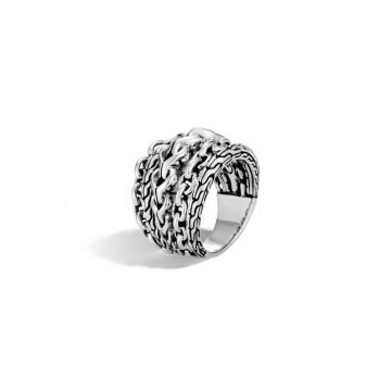 John Hardy Silver Classic Chain Women's Ring