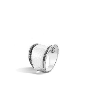 John Hardy Silver Classic Chain Women's Gemstone Saddle Ring