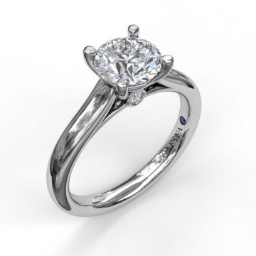 Classic Solitaire With Peek A Boo Diamond