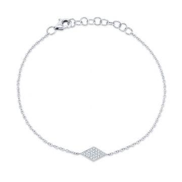 Shy Creation 14k White Gold Bracelet
