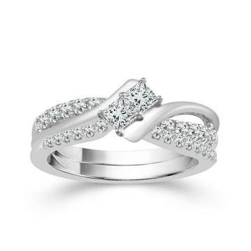 Haylie Ann 2Beloved 14k White Gold Bypass Engagement Ring
