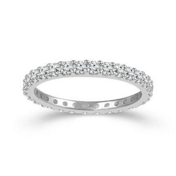 Haylie Ann Eternity Band 14k White Gold Diamond Wedding Band