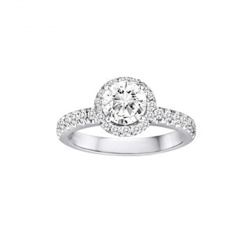 Diadori 18k White Gold 0.48ct Diamond Semi Mount Engagement Ring