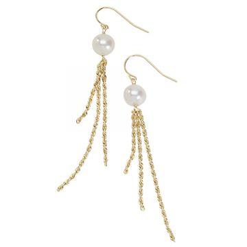 Honora 14k Yellow Gold Pearl Earrings