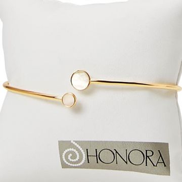Honora 14k Yellow Gold Pearl Cuff Bracelet