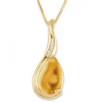 Elk Ivory 18k Yellow Gold Pendant
