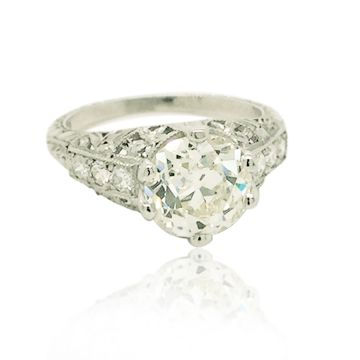 Goldsmith Gallery Platinum White Diamond Engagement Ring
