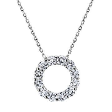 Goldsmith Gallery 18k White Gold Diamond Necklace