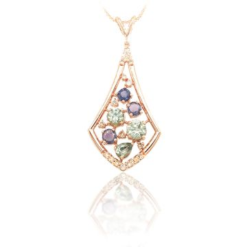 Goldsmith Gallery 18k Rose Gold Diamond Pendant
