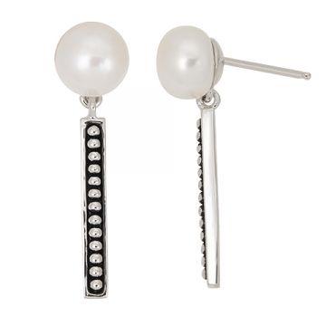 Honora Sterling Silver White Pearl Earrings