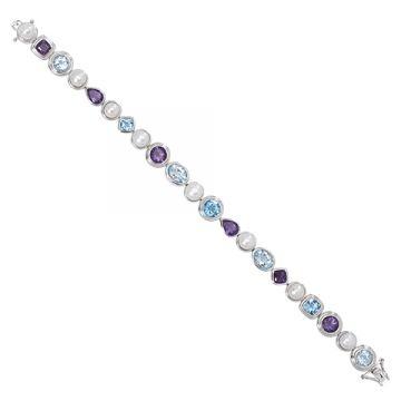 Honora Sterling Silver White Pearl Bracelet