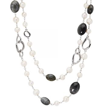 Honora Sterling Silver White Pearl Necklace