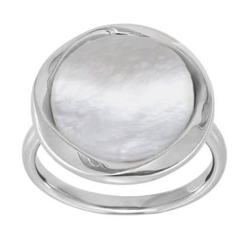 Honora Sterling Silver White Pearl Ring