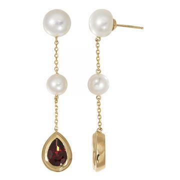 Honora 14k Yellow Gold Pearl Drop Earrings