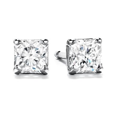 Hearts on Fire 1 ctw. Studs - Four-Prong Dream in 18K White Gold