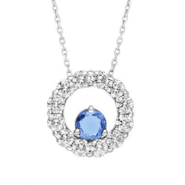 GOLDSMITH GALLERY JEWELERS YOGO SAPPHIRE AND DIAMOND RING SLIDE PENDANT SIGNATURE COLLECTION