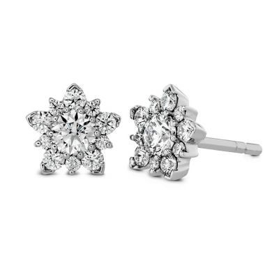 Hearts on Fire 1.25 ctw. Aerial Cluster Stud Earrings in 18K White Gold