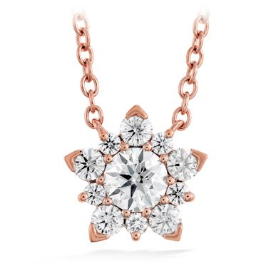 Hearts on Fire 1 ctw. Aerial Cluster Pendant in 18K Rose Gold