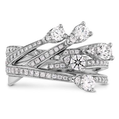 Hearts on Fire 0.95 ctw. Aerial Cross Over Right Hand Ring in 18K White Gold