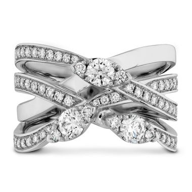 Hearts on Fire 0.85 ctw. Aerial Diamond Right Hand Ring in 18K White Gold