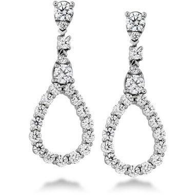 Hearts on Fire 1.3 ctw. Aerial Diamond Drop Earrings in 18K White Gold
