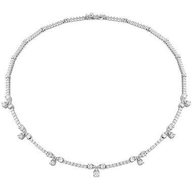 Hearts on Fire 6.95 ctw. Aerial Diamond Line Necklace in 18K White Gold