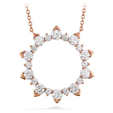 Hearts on Fire 1.75 ctw. Aerial Eclipse Large Pendant in 18K Rose Gold