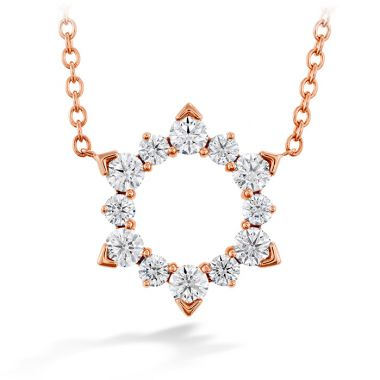Hearts on Fire 0.5 ctw. Aerial Eclipse Pendant in 18K Rose Gold