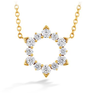 Hearts on Fire 0.5 ctw. Aerial Eclipse Pendant in 18K Yellow Gold