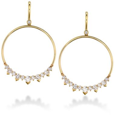 Hearts on Fire 2.4 ctw. Aerial Eclipse Earrings in 18K White Gold