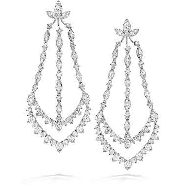 Hearts on Fire 12.9 ctw. Aerial Triple Diamond Chandelier Earrings in 18K White Gold