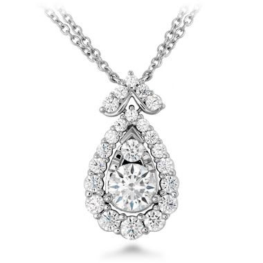 Hearts on Fire 1.55 ctw. Aerial Victorian Halo Drop Necklace in 18K White Gold