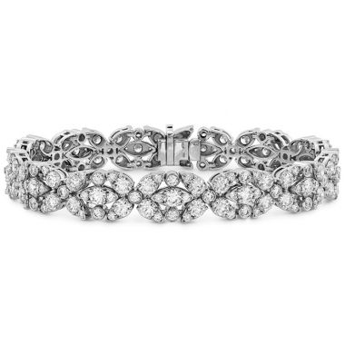 Hearts on Fire 11.15 ctw. Aerial Double Row Diamond Bracelet in 18K White Gold