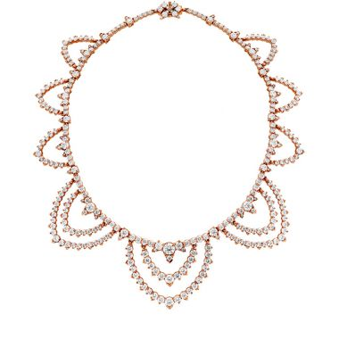 Hearts on Fire 30.6 ctw. Aerial Diamond Collar in 18K Rose Gold
